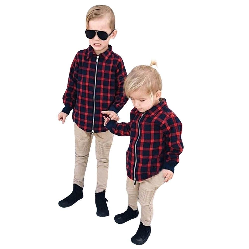 Baby Jongens Jakets 2018 Fashion Brand Lange Mouwen Plaid Jas Peuter Baby Kinderen Winter Warme Kleding Tops Jaket Uitloper Jassen