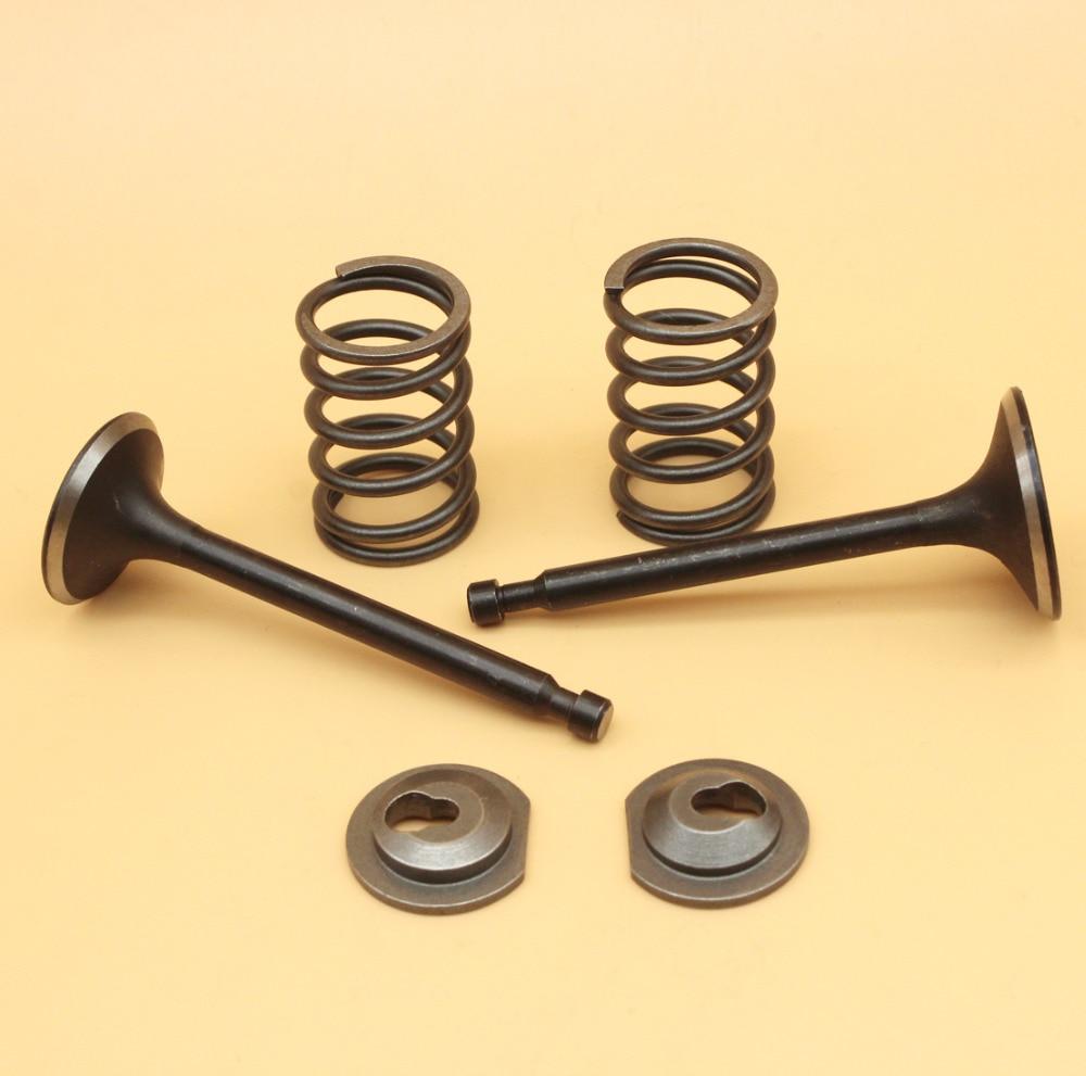 Intake Inlet Exhaust Valve Spring Collet Retainer Set For HONDA GX160 GX200 168F 170F 5.5-6.5HP Gas Engine Motor Generator Mower