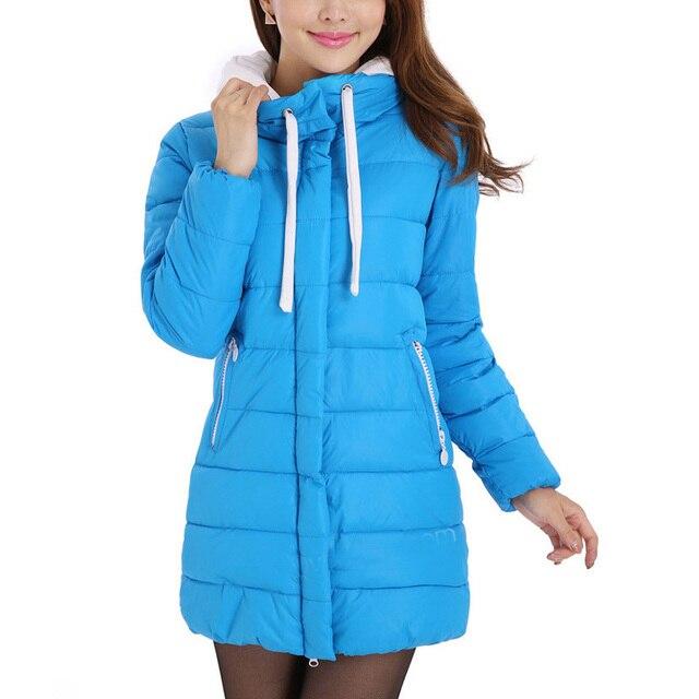 Super Deal Down Parkas Autumn Women Cotton Coat Slim Medium-long Jackets Thickening Warm Overcoats Promotional discounts