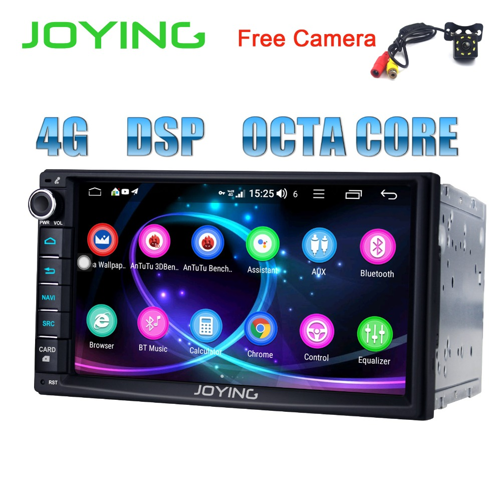 JOYING dernière 2 din android 8.1 voiture radio autoradio DSP stéréo 7 ''GPS tête unité soutien 4g carplay avec livraison arrière vue caméra