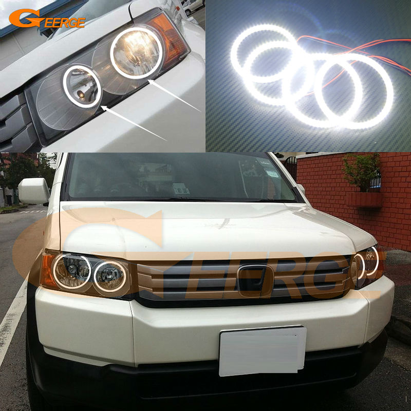 For Honda Crossroad 2008 2009 2010 Excellent Angel Eyes Ultra bright illumination smd led Angel Eyes kit Halo Ring