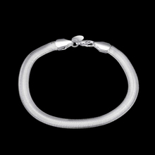 Fashion 6MM Snake Chain Bracelet for Women 925 Sterling Silver Bracelet & Bangle Female Silver  Jewelry Gifts 925 sterling silver bracelet bangle retro thai silver male personality silver chain magic circle evil eye bracelet punk biker
