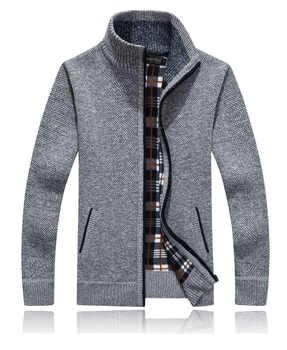 Livraison gratuite solide couleurs hommes chandail 2017 nouveau cardigan décontracté chandails grande taille M-3XL