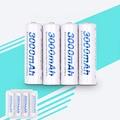 4 pcs 2a aa bateria baterias 1.2 v aa 3000 mah ni-mh bateria recarregável pré-carregada 2a baterias para câmera