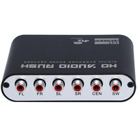 Digital To Analog AC3 Optical To Stereo Surround HD 5 1 Audio Decoder 2 SPDIF Ports