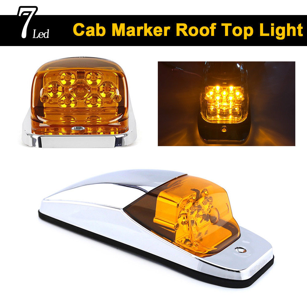 3x Smoked Smoke LED Cab Roof Top Marker Running Clearance Light Bar Jeep Hummer