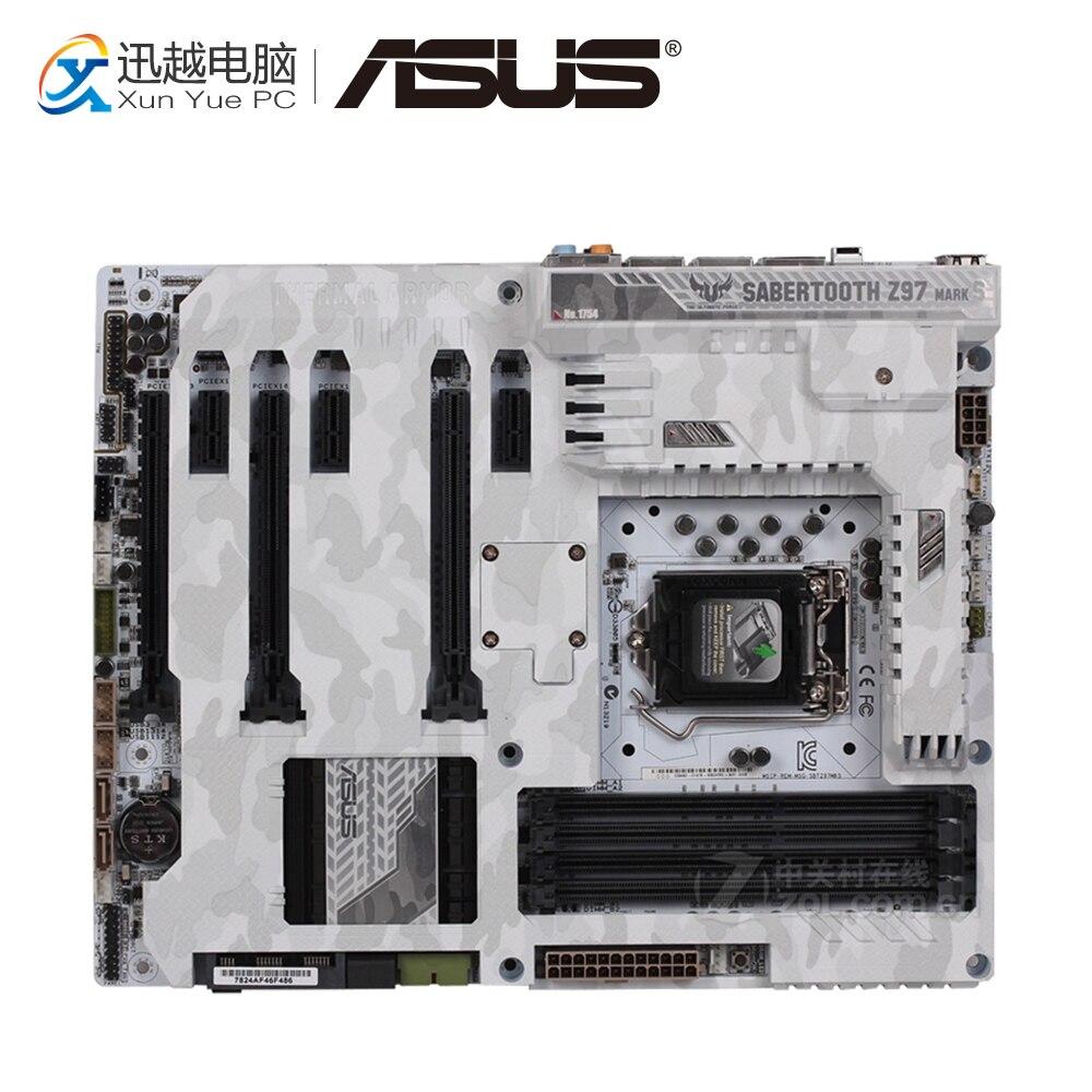 Asus SABERTOOTH Z97 MARK S Desktop Motherboard Z97 Socket LGA 1150 i7 i5 i3 DDR3 32G ATX