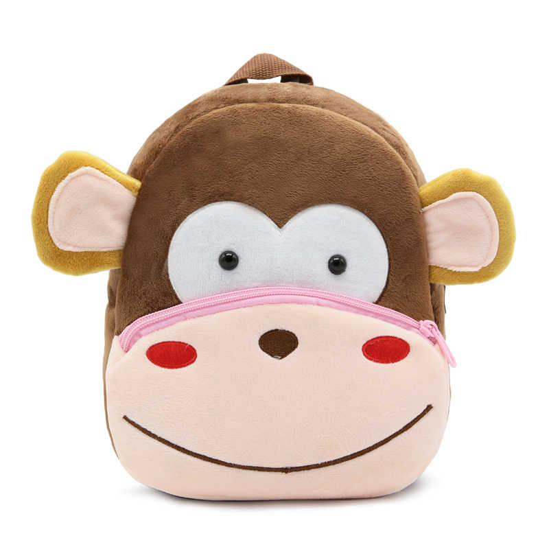 Pluszowe plecaki dla dzieci plecak do przedszkola 3D Cartoon Monkey zwierząt plecak dla dzieci dzieci torby szkolne dla dziewczynek chłopców