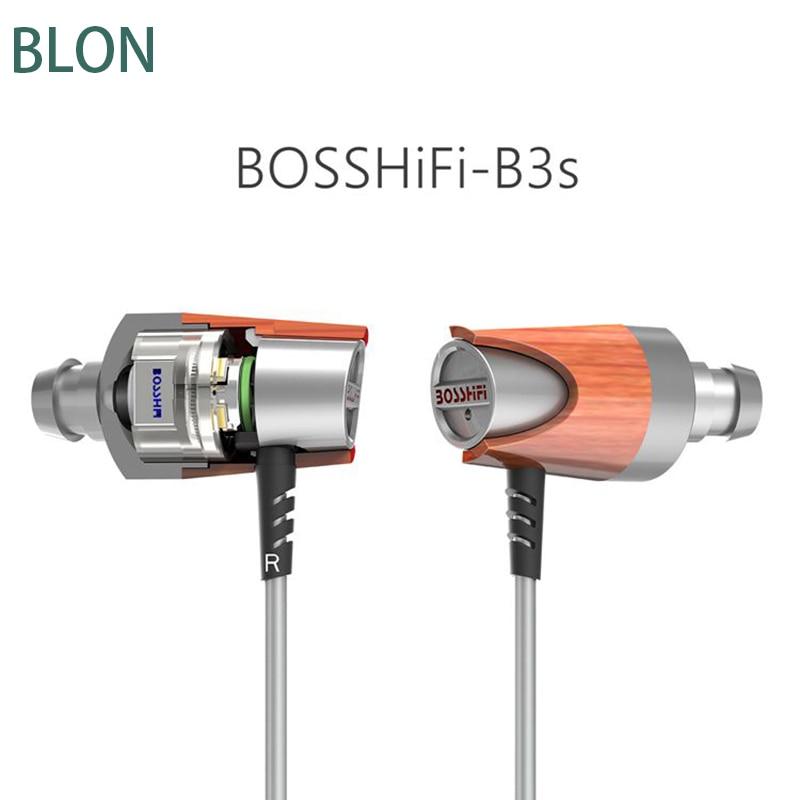 100% Original BLON B3S BB+BA hybrid drive In-ear wooden Professional DIY 3.5mm HIFI DJ bass stereo earphone for iphone xiaomi
