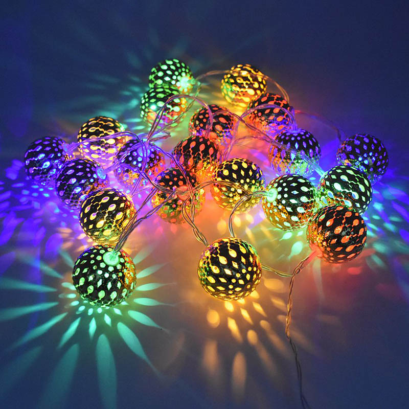 Package Include 1 X 20 Leds Moroccan Orb Fairy Lights String