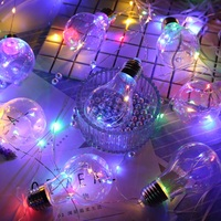 100 LED Edison Bulb Christmas Fairy Light Led Copper Wire String Wedding natal Garland New Year Christmas Decorations For Home