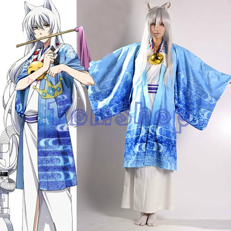 Gugure! Kokkuri-san Kokkurisan Fox Spirit COSplay Uniform Japanese Kimono Full Set Costume Outfit Suit Anime Fancy Clothes