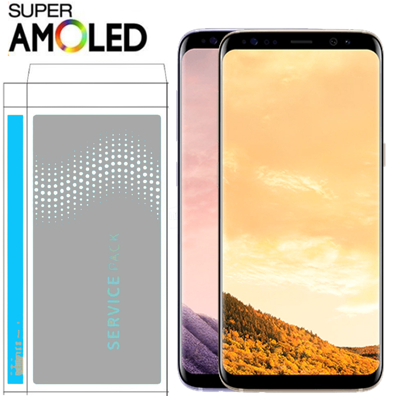 ORIGINAL with Burn Shadow LCD with frame for SAMSUNG Galaxy S8 G950 G950F Display S8 Plus