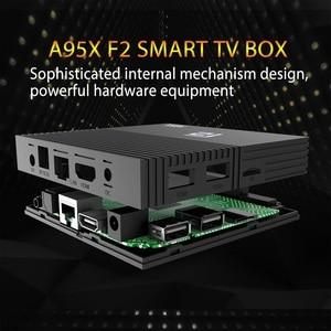 Image 4 - 2019 أحدث أندرويد 9.0 صندوق التلفزيون A95X F2 Amlogic S905X2 4K الذكية التلفزيون صندوق التشغيل 4GB 64GB 2.4G & 5G المزدوج واي فاي PK X96 H96 مشغل الوسائط