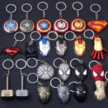 Marvel Avengers 4 End Game Figure Keychain The Age Of Ultron Logo Vintage Bronze Silver Metal Keyring Pendant