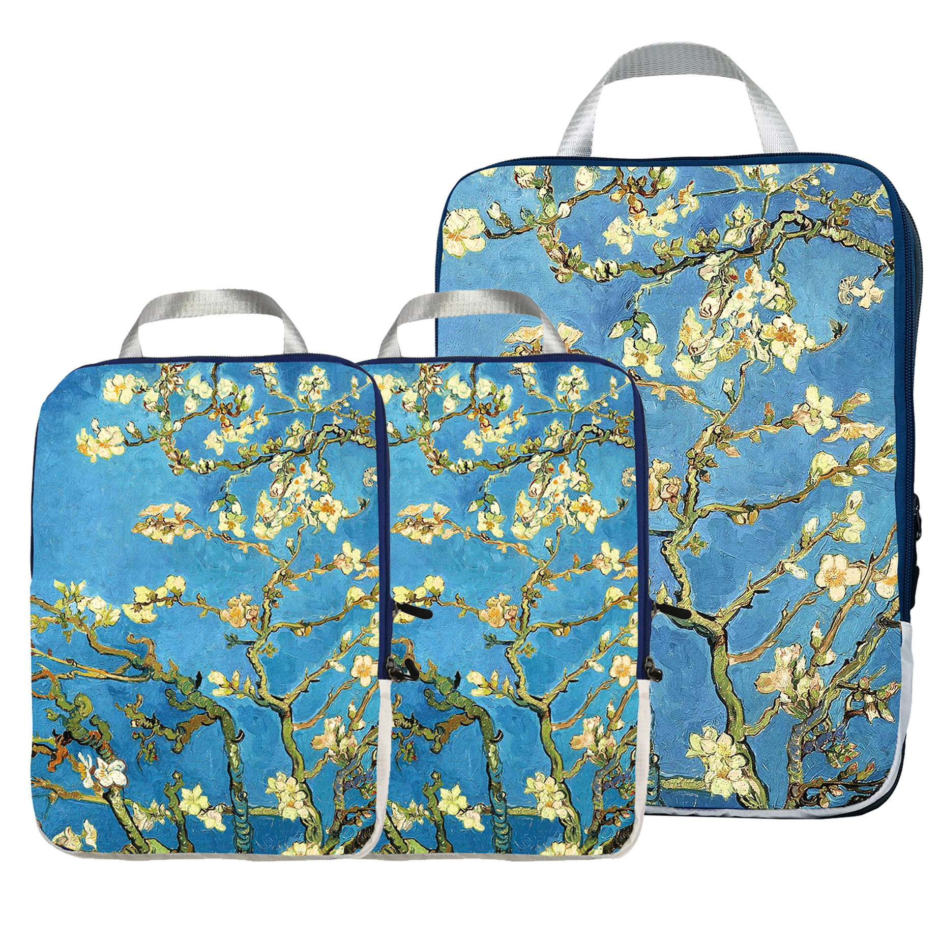 Packing Cubes Travel Organizer Set 3 Pcs - Compression Packing Cubes For Carryon Luggage