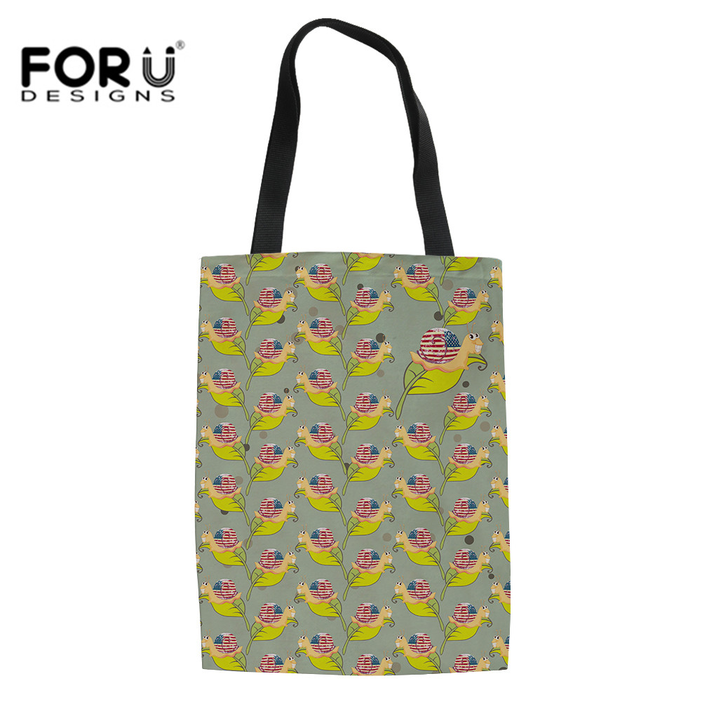 FORUDESIGNS Fashion Women's Shoulder Bag Schoolbag High Quality Portable USA Flag Print Handbag Leisure School Bag Shopping Bags