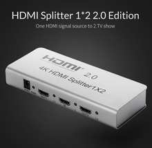 Unnlink HDMI Splitter 1 in 2 out HDMI Switch HDMI Switcher 1×2 HDMI 1 Input 2 Output Splitter for XBOX 360 PS3 PS4