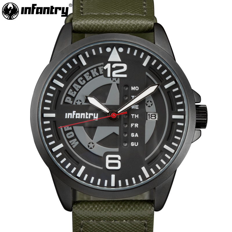 Infantry Mens Uhren Top-Marke Luxus Military Army Watch neue Relogio - Herrenuhren