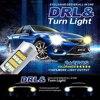 2pcs/lot New Arrival T20 42 Led Light High Power Daytime Running Light+Turn Signal Dual Mode DRL LED Light CC