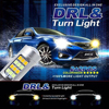 2pcs/lot Signaling Lights Car Arrival T20 42 Led Light High Power Daytime Running Light+Turn Signal Dual Mode DRL LED Light CC