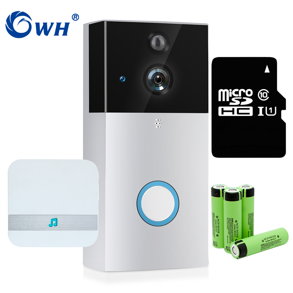 CWH 720P Wireless Doorbell Door Video Intercom Camera WiFi With Dingdong SD Card Recording Support Battery Powered ...