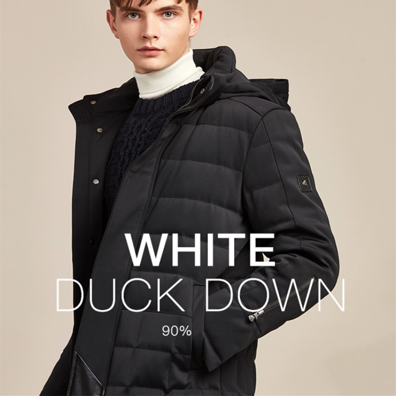 Winter Male Down Jacket High-end Brand Quality Business Down Coat Young And Middle-aged Man Hooded Down Jacket
