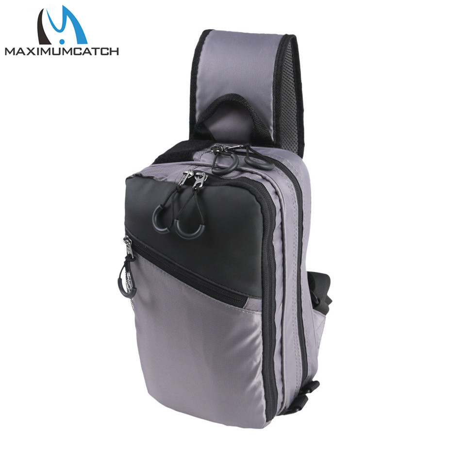 Maximumcatch REC Fly Fishing Sling Bag Shoulder Pack with Fly Patch Multifunction Fishing Tackle Bag maximumcatch fishing sling back pack outdoorsport fly fishing sling bag with fly patch