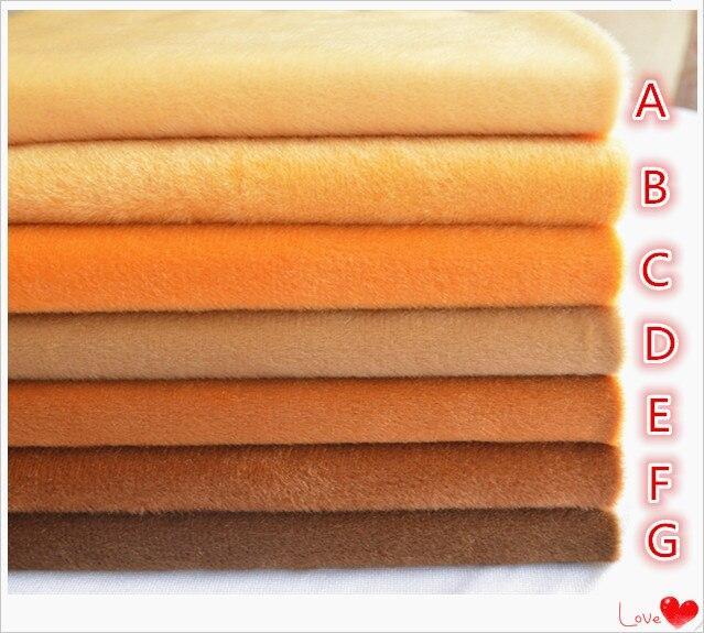 50*150 cm Tecido De Veludo Metros Marrom Boneca de Pelúcia Velo de Algodão Feito À Mão Patchwork Costura Têxtil Sentiu Telas Peluche Costura Tissus