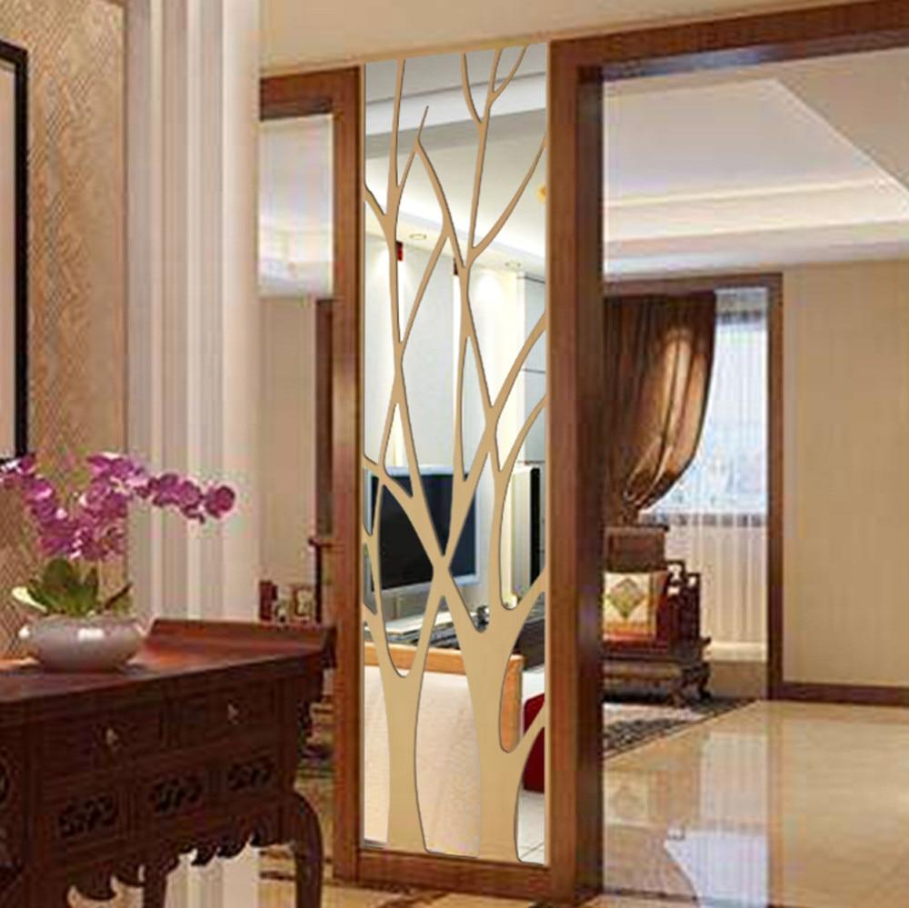 3D Acryl Wand Aufkleber Moderne Spiegel Stil Aufkleber Abnehmbare Kunst  Wandbild Tapete Vintage Hause Zimmer Schlafzimmer Romantische DIY Decor