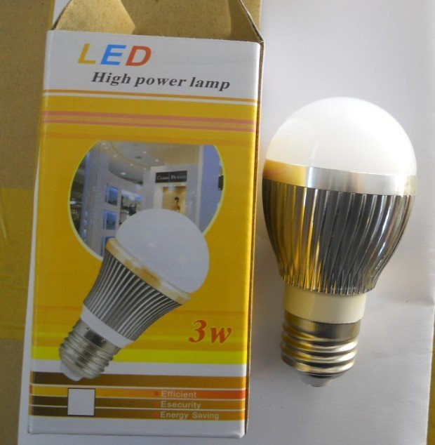 Dimmable 3*1W LED bulb,AC85-265V input, warm white or cool white;around 300lm;high bright
