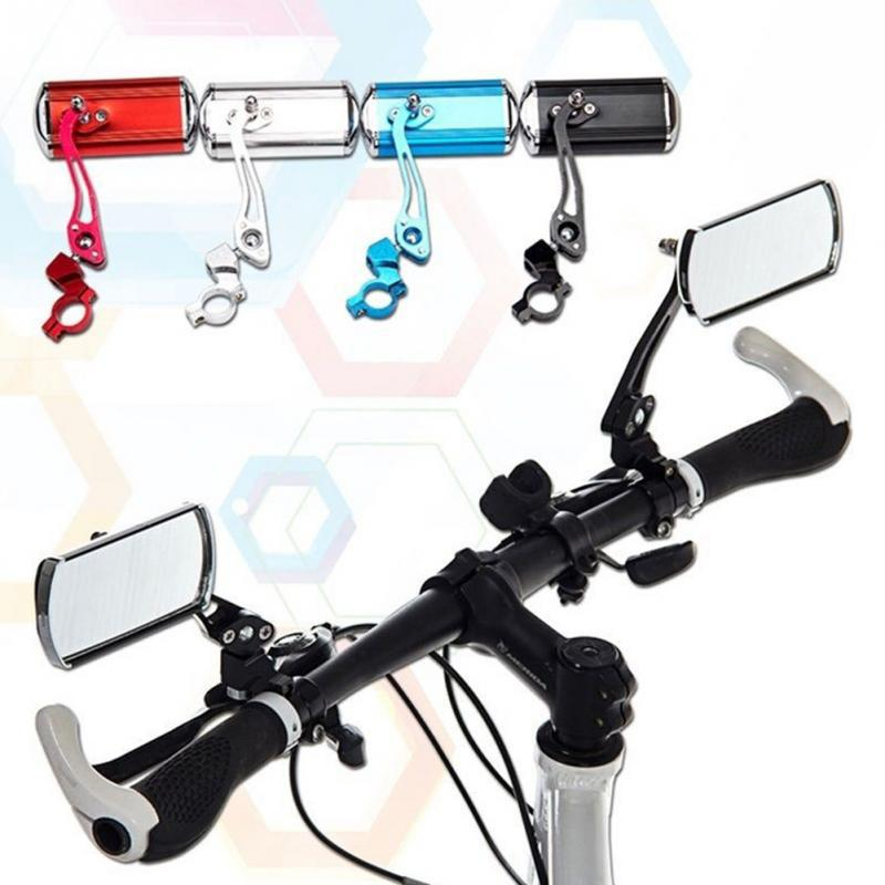 1 Pair Bike Rear View Mirror 360 Rotate Mountain Road Motorcycle Bicycle Reflective Safety Cycling Handlebar Rearview Mirror ...
