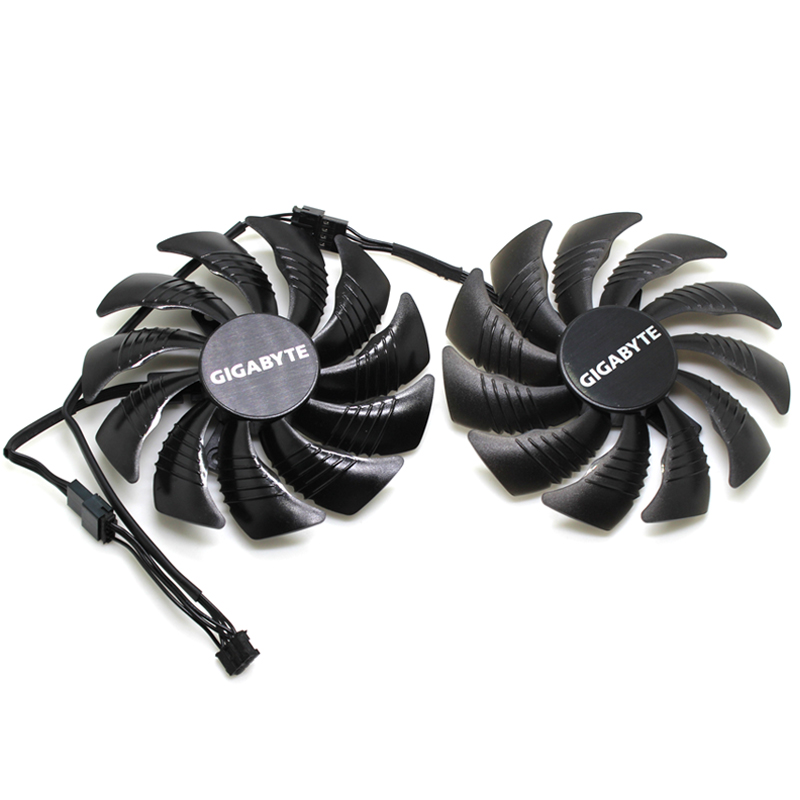 New T129215SU 0.50A 4Pin Cooling Fan For Gigabyte GeForce GTX 1050 1060 1070Ti RX 570 580 RX 480 Video Card Cooler Fans