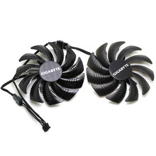 New T129215SU 0.50A 4Pin Cooling Fan For Gigabyte GeForce GTX 1050 1060 1070Ti RX 570 580 RX 480 Video Card Cooler Fans(China)