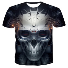Summer New Funny skull 3d T Shirt Hipster Short Sleeve Tee Top Men/Women Anime T-Shirts Homme sleeve tops Drop Ship