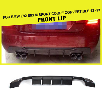 Carbon Fiber / FRP Rear Bumper Diffuser Lip Spoiler for BMW 3 Series E92 E93 M Sport Coupe Convertible Only 2012 2013 image