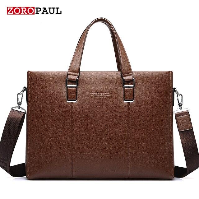 ZOROPAUL 2017 Men's Fashion Bags Handbags Men Famous Brands Tote Business Shoulder Top Handle Men Briefcas Handbags Leather Bags
