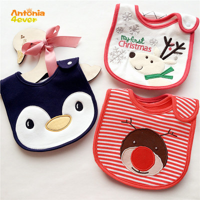 BBURQT 100% Cotton Baby Bibs Waterproof Baby Girls Boys