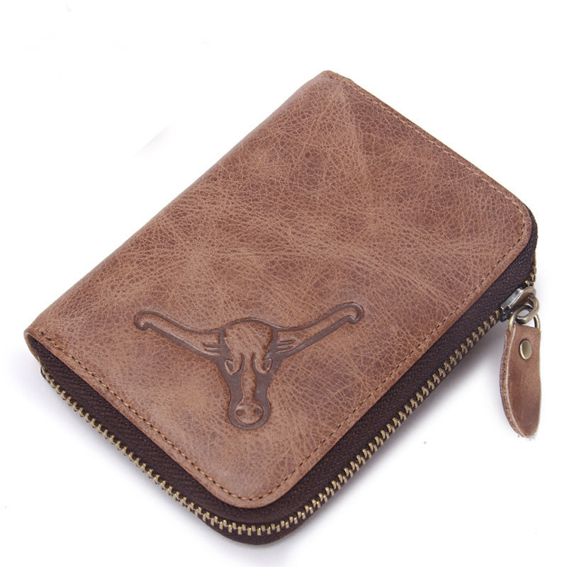 2016 Genuine Crazy Cowhide Leather Men Wallet Short Coin Purse Small Vintage Wallet Brand High Quality Vintage Designer  Tauren 2017 genuine cowhide leather brand women wallet short design lady small coin purse mini clutch cartera high quality