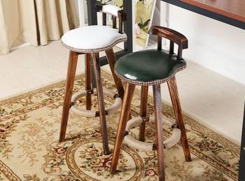 olid wood bar chair. American retro bar stool.. Domestic high chair solid wood european style bar stool american retro high bar chair home