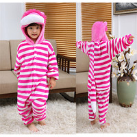 Children Boy Girl Pajamas Unisex Pijamas Striped Minions Pikachu Kid Cartoon Animal Cosplay Pyjama Sleepwear Hooded