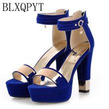 Sandalias de tacón alto para mujer T865, Moda Real por tiempo limitado, talla grande 34 43, zapatos de moda para mujer, 2017