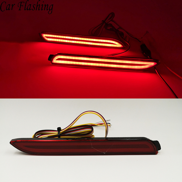 2Pcs Car LED Rear Bumper Reflector Brake Lights Red Lamp for Lexus IS-F GX470 RX300 for Toyota/Camry/Sienna/Venza/Reiz/Innova