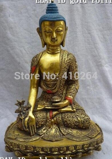 12China Bronze Gild Sakyamuni Buddha Statue12China Bronze Gild Sakyamuni Buddha Statue