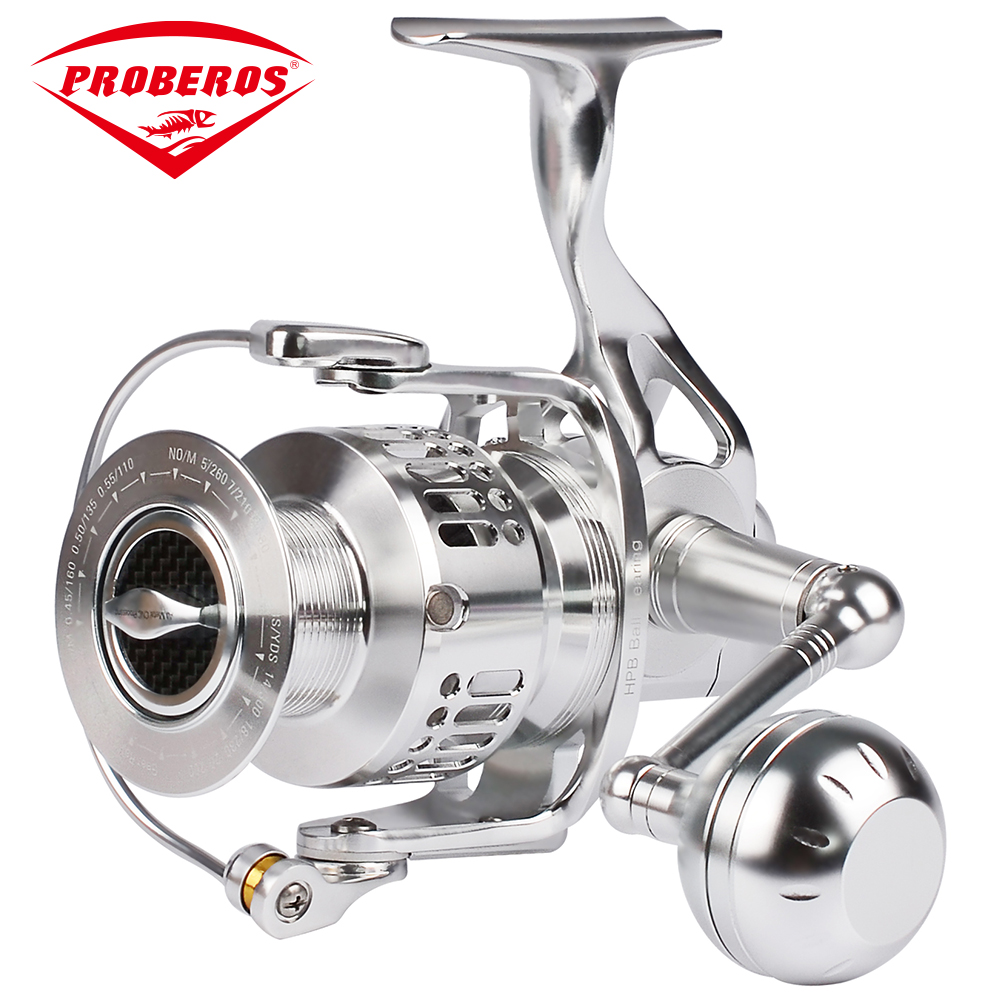 Fishing Reel Aluminum Alloy CNC Processing AE6000 Spinning Reel14+1BB Stainless Steel Bearing Anti-seawater Wheel Fishing Gear fishing reel new aluminum alloy cnc processing spinning reel 11 1bb stainless steel bearing 25kg max drag sea boat pesca