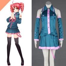 Por Encargo Envío gratis Anime Costume Vocaloid Teto Kasane Cosplay