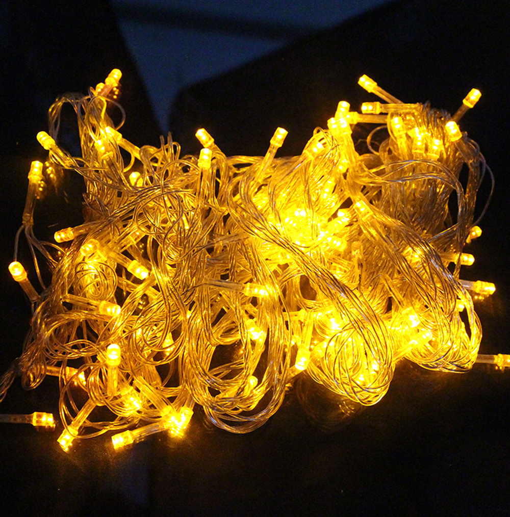 10M 100LEDS Bright LED Lights String outdoor & Indoor LED Party Lights Xmas Decorations Lights Idea Colorful Holiday Led Lights