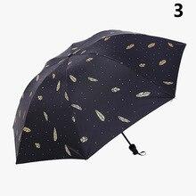 1 Pcs Folding Umbrella Rain Anti-UV Portable Fashion Anti-slip Rubber Handle Parasol Hot Sale