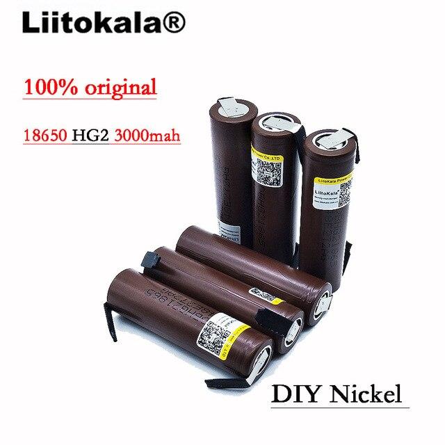 2020 8 Pz/lotto Liitokala HG2 18650 3000mAh batteria 18650 HG2 di scarica 3.6V 30A, dedicato DBHG2 batterie + FAI DA TE Nichel