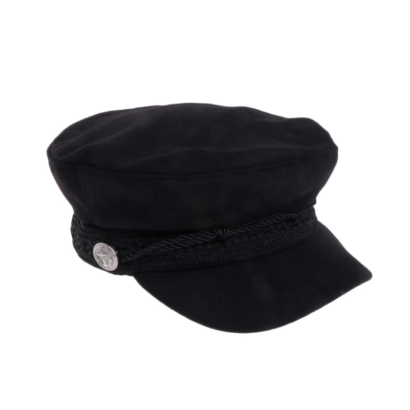 Simple Solid Military Hat Vintage Patchwork Beret Cap England Style Harajuku Flat